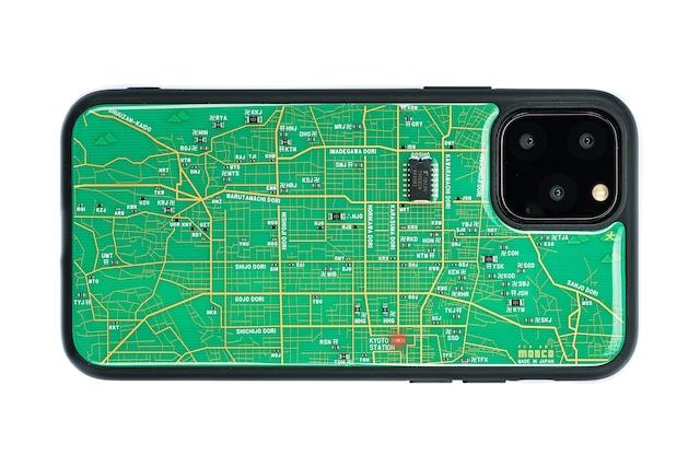 FLASH 京都回路地図 iPhone 12 mini ケース 緑【東京回路線図A5クリアファイルをプレゼント】