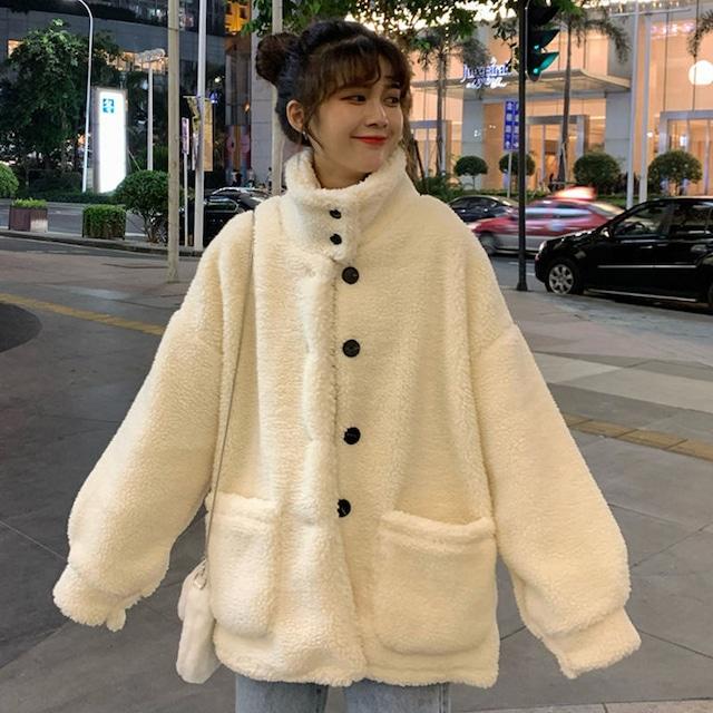 【アウター】キュートふわふわ防寒ファッションコート36497057