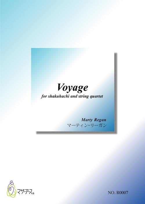 R0007 Voyage(尺八,弦楽四重奏/マーティン・リーガン/楽譜)