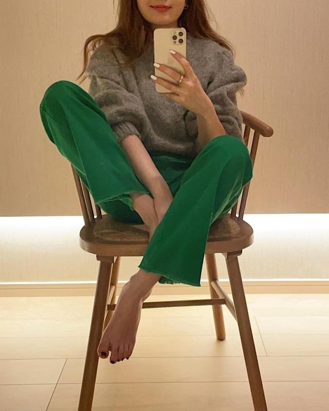 parisienne straight pants(green)