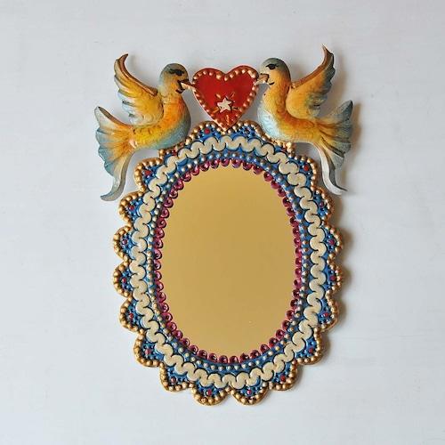 メキシコ ブリキ鏡(019)