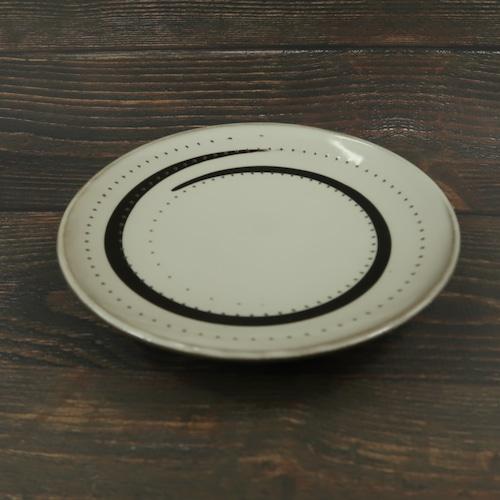 小石原焼 ケーキ皿 白トビ 鶴見窯