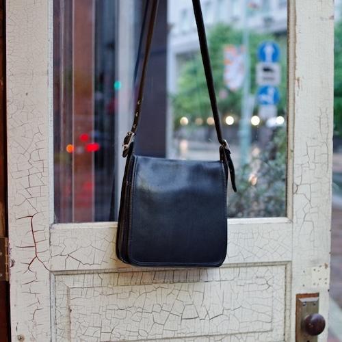 "OLD COACH 9144 ""Black"" Leather Shoulder Bag / オールド コーチ レザー ショルダー バッグ / ブラック"