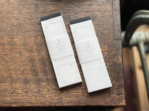 【活版印刷】3pattern label book  Noble【Bronze&Black / Silver&Black】