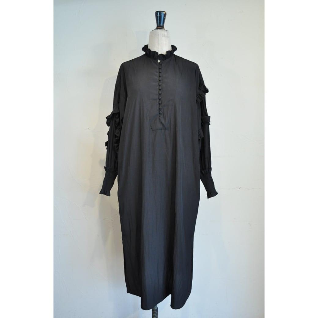 【RehersalL】 frill bijou onepiece(black) /【リハーズオール】フリルビジューワンピース(ブラック)