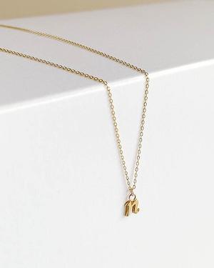 """K18  initial  """" n """"  necklace /  Belleza by n"""