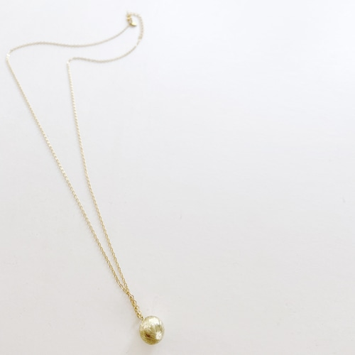 Satin ball necklace-LONG NC-040
