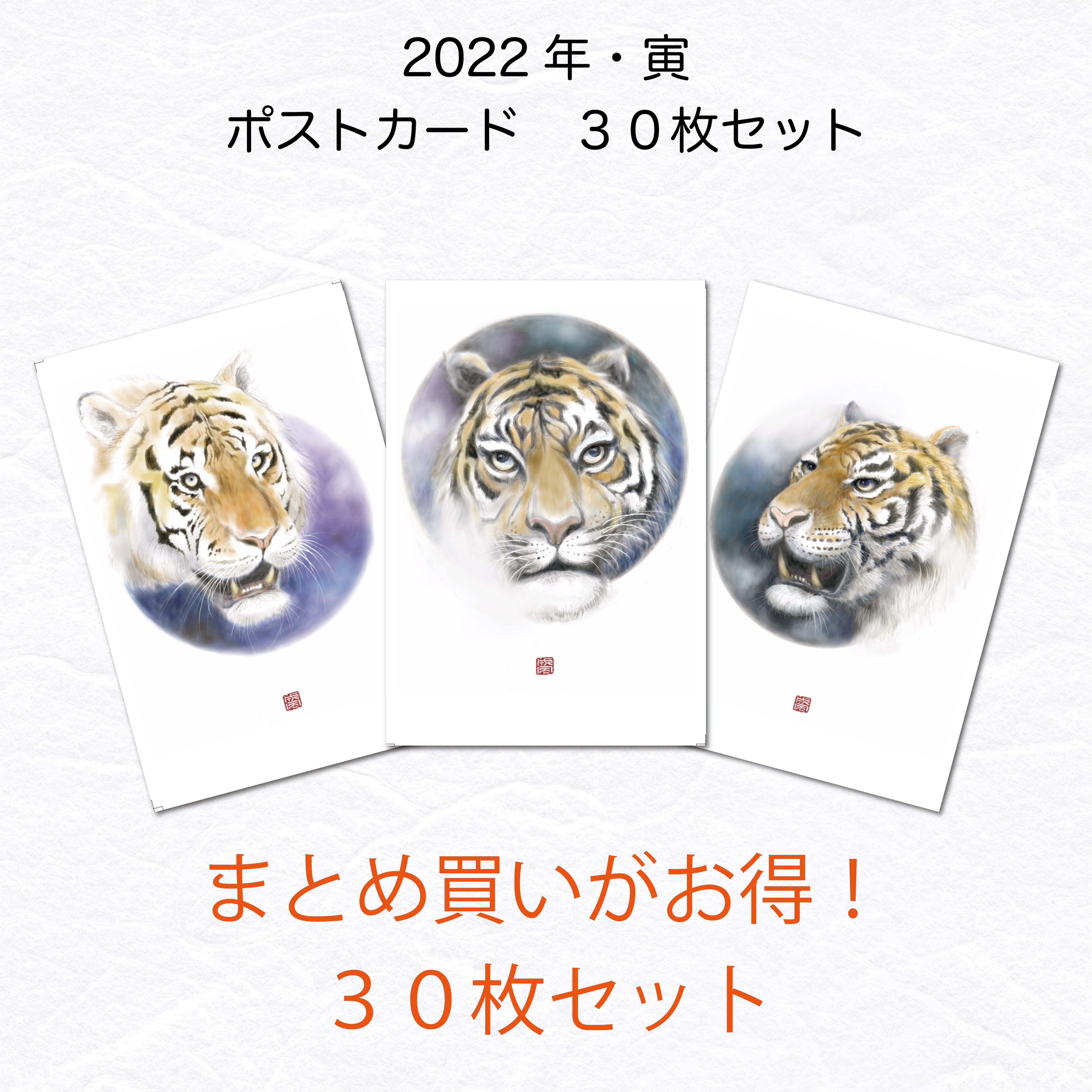 【お得な30枚まとめ買いセット】2022年 ポストカード・年賀状 寅