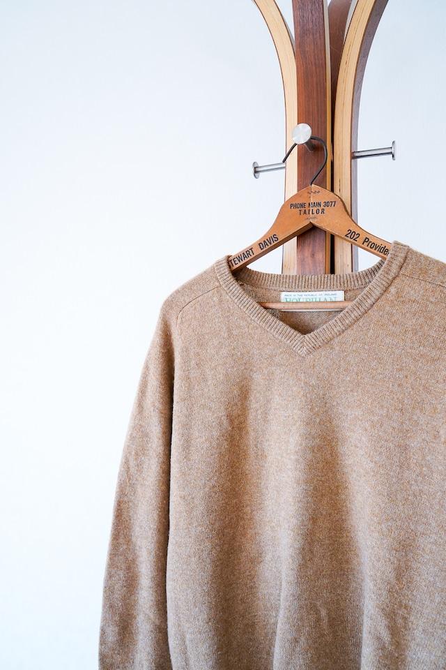 "【1960s】""Hourihan"" Ireland Made Wool Sweater / v684"