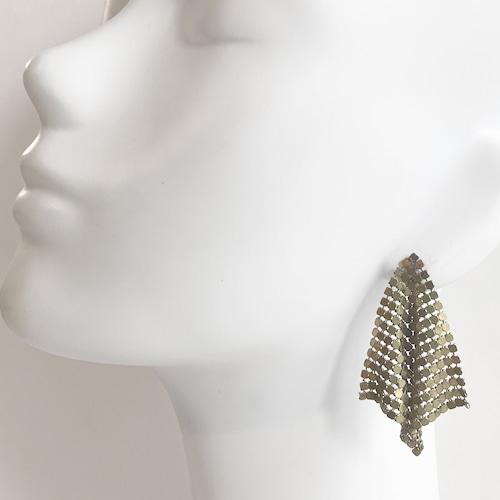 Metal mesh earring B-090