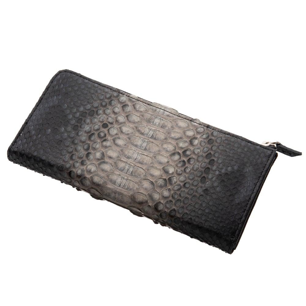 L字スリムグレーパイソンロングウォレット ACW0022 L-shaped slim gray python long wallet