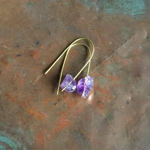Owly.stock sale Brass hammered stone pierce (送料サービス商品)