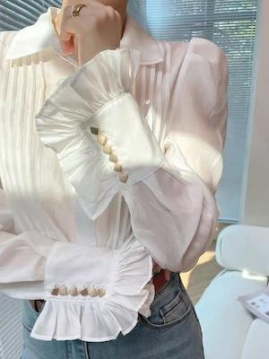 arm volume frill blouse