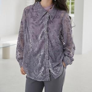 〔Designer+ 〕purple flower tops