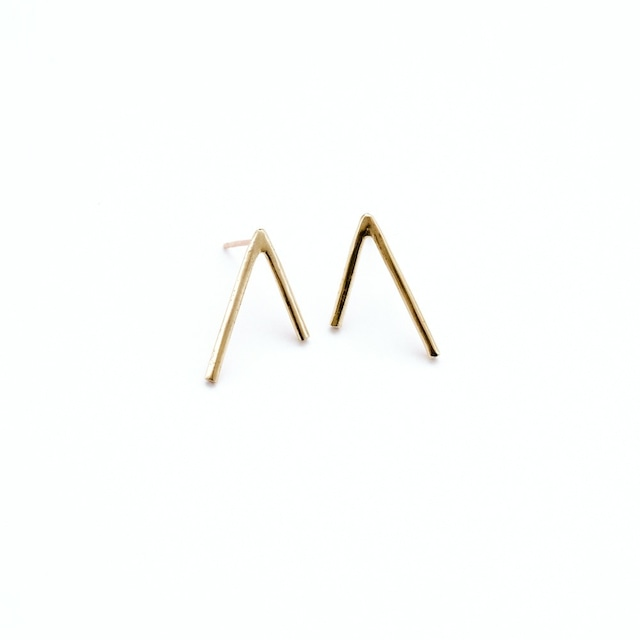 【SPECIAL  SALE!】 ANOTHER FEATHER / DART EARRINGS BRASS