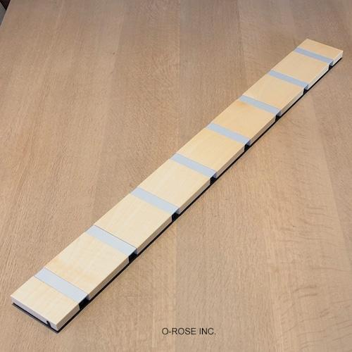 KNAX ホリゾンタル 8フック メープル材ラッカー仕上 グレイ