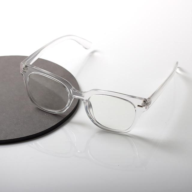 【曇らない特殊加工】UV&ブルーライト軽減クリアだてメガネ