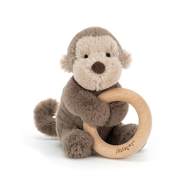 Shooshu Monkey Wooden Ring Toy_SHO4WM