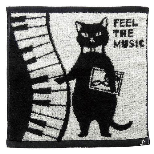 猫タオルハンカチ(今治タオルハンカチ)ネコ先生