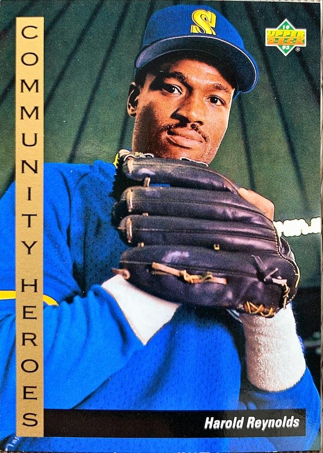 MLBカード 93UPPERDECK Harold Reynolds #35 MARINERS COMMUNITY HEROES