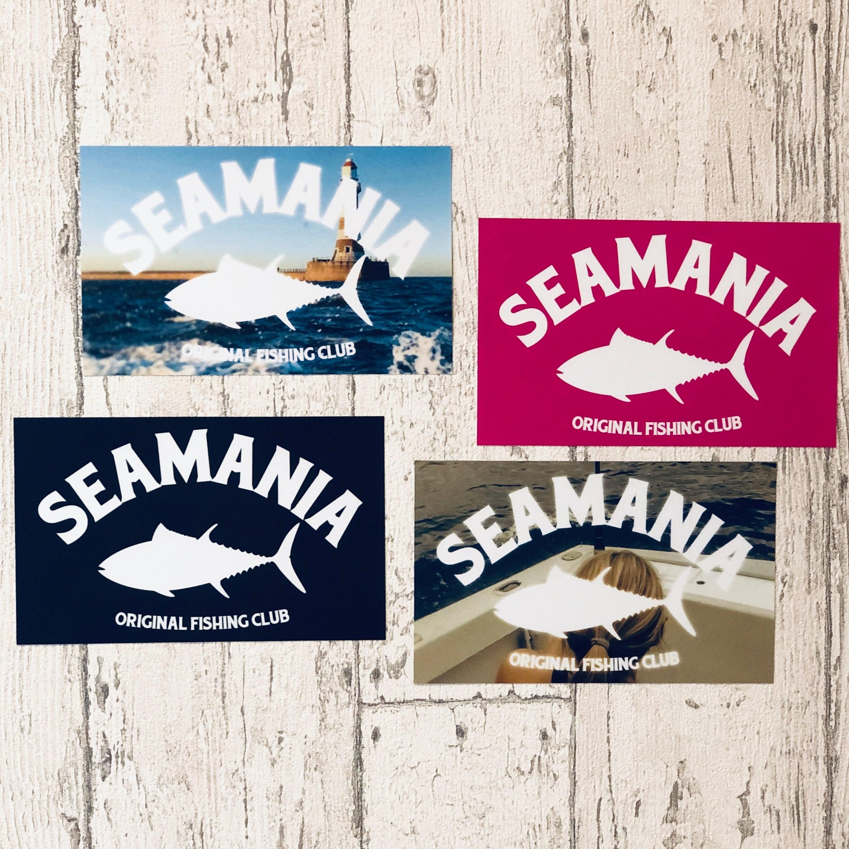 【Seamania】ロゴデザインステッカー