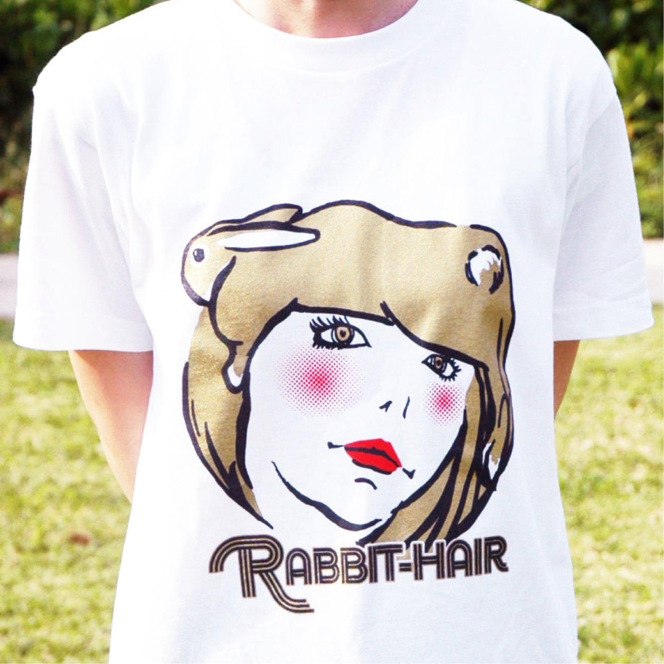 【在庫限り】ラビットヘアー Tシャツ(ゴールド)