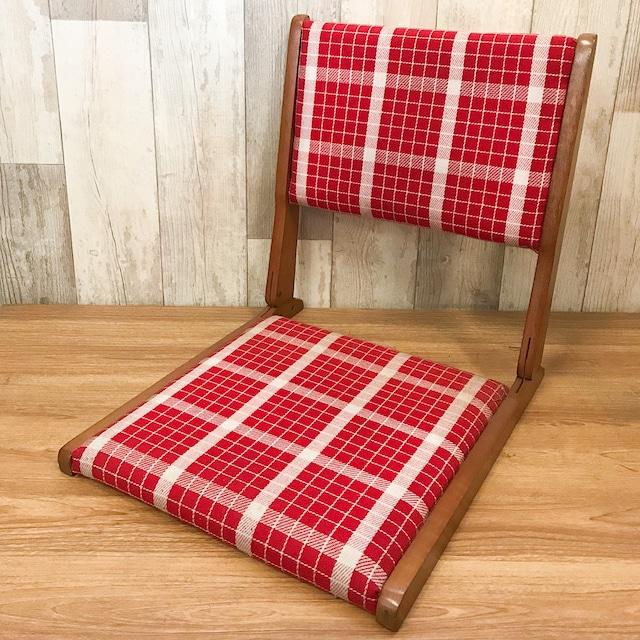 【R-624】チェック折り畳み座椅子