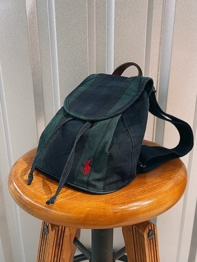 (KD260) Ralph Lauren tartan check mini bag