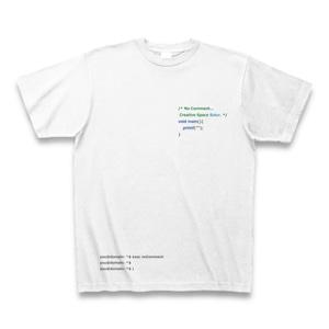 Programming PRINT T-shirt White Ver. - No Comment / C Language -