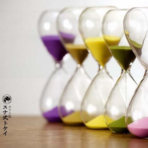 ガラス製 砂式トケイ