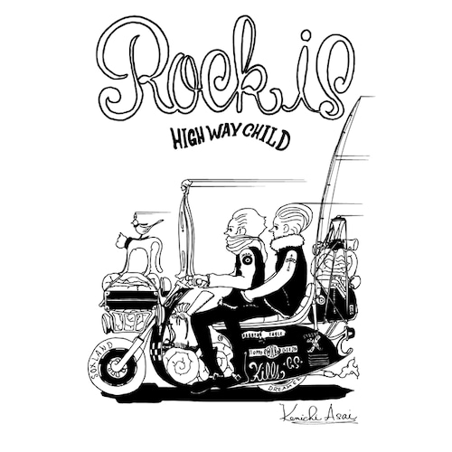 Rock is 1周年記念トートバッグ(White)