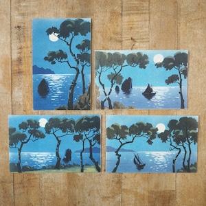 スペインのポストカード 夜景4種