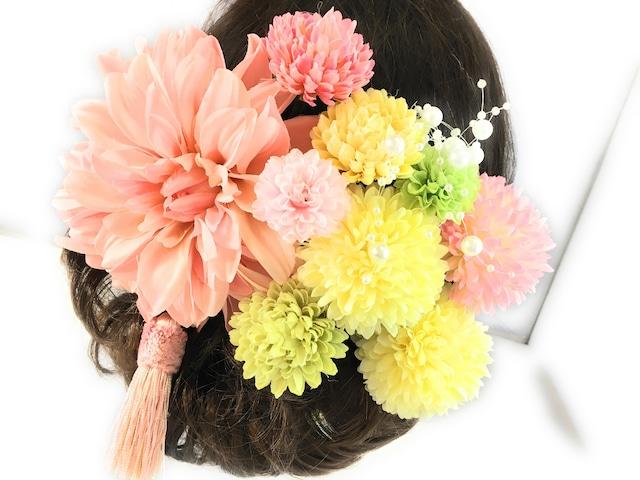 大人かわいいピンク色*豪華11点セット髪飾り