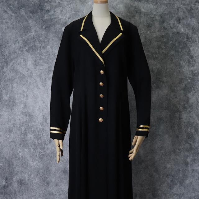 """90年代 USA製 """"lew magram NEW YORK"""" ルーマグラム ロングコート アメリカ製 古着 レディース ブラック M〜L 90's Usa  Vintage Long Coat"""