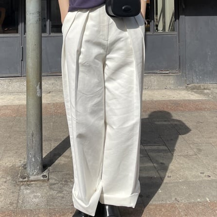 Double tacks casual pants(ダブルタックスカジュアルパンツ)b-111