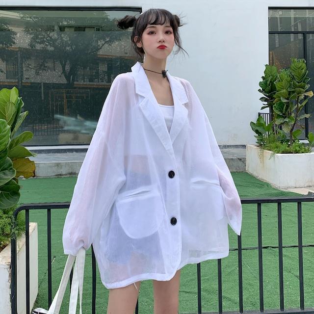 【アウター】UVカットカジュアルオーバーサイズファッションジャケット30693943