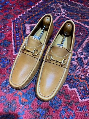 .GUCCI LEATHER HORSE BIT LOAFER MADE IN ITALY/グッチレザーホースビットローファー 2000000050478