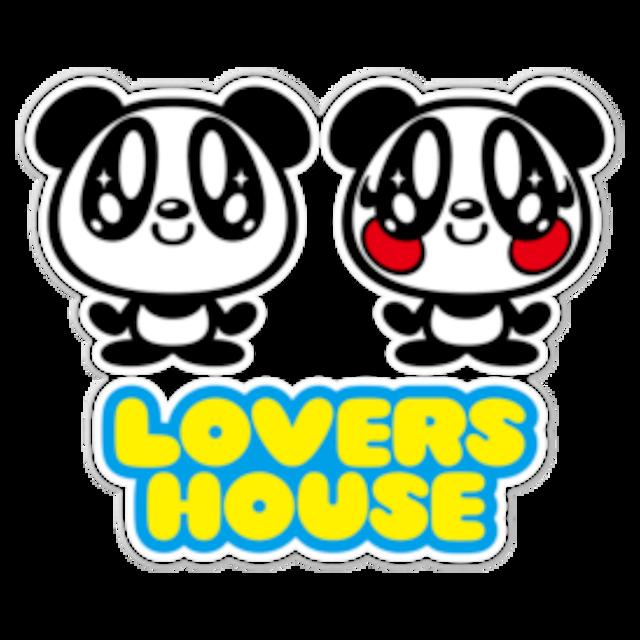 LOVERSHOUSE logo/クリアーステッカー16cm枠内