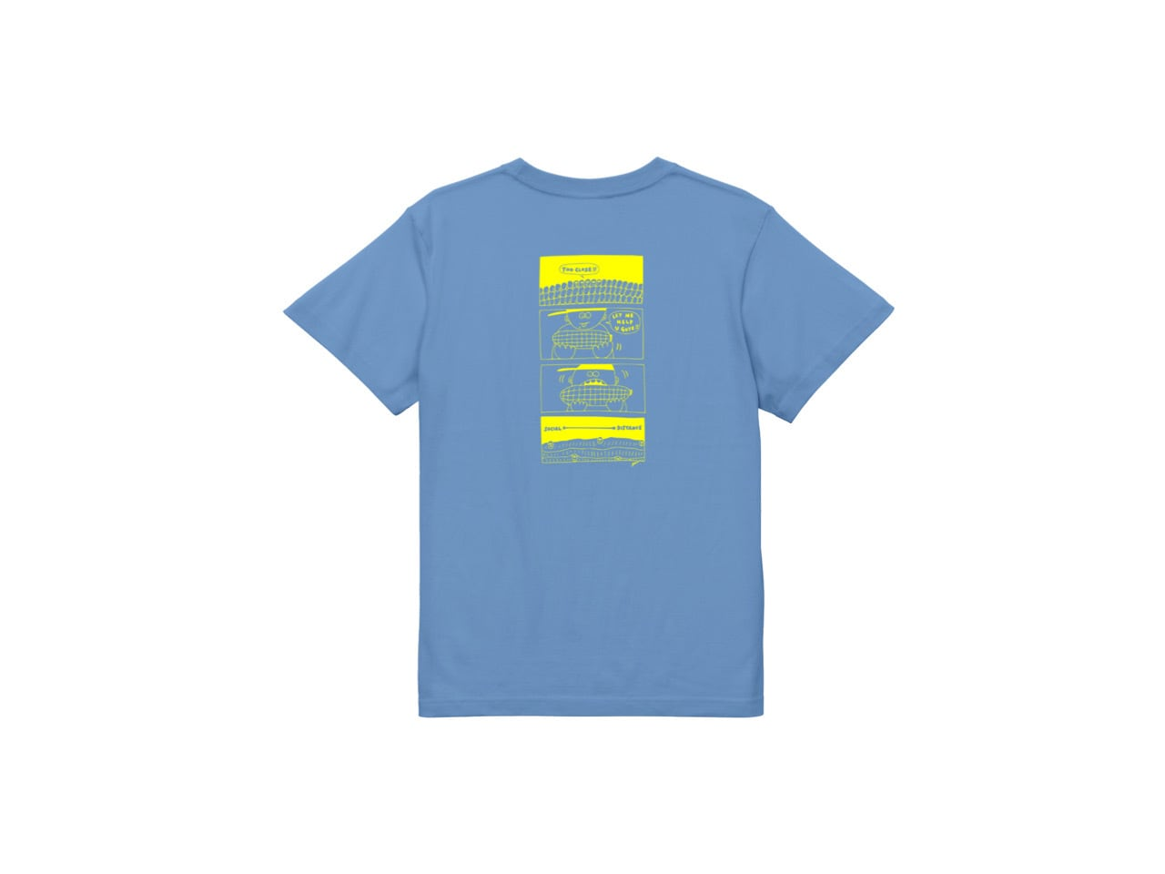 SHI x coguchi corn SD T-shirts (SKY/YL)