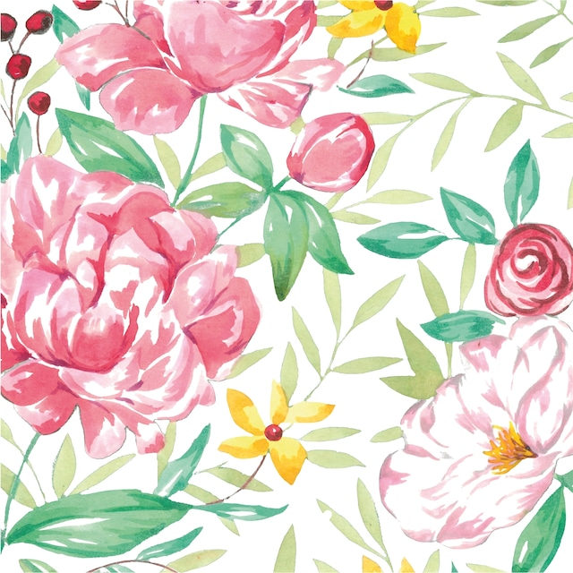 【Paperproducts Design】バラ売り2枚 ランチサイズ ペーパーナプキン Madame Rose ホワイト