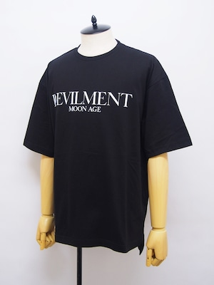 Moonage Devilment (ムーンエイジデビルメント) F/PRINT OVER TEE / BLACK mcs-0636-1