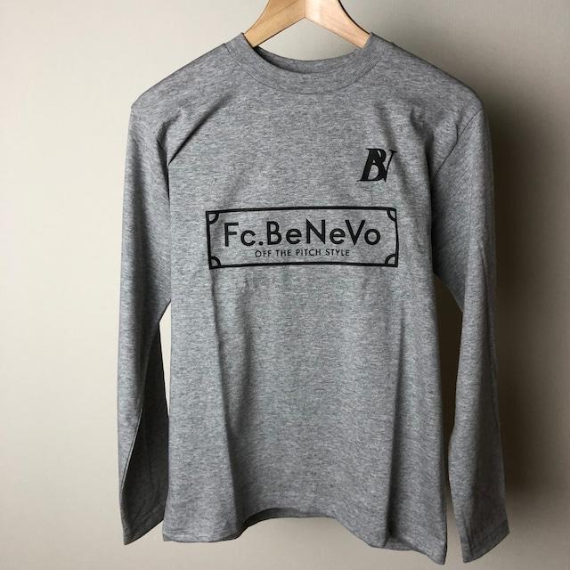 BV×Fc.BeNeVo STANDARD LOGO LONG SLEEVE-T (HEATHER GRAY)