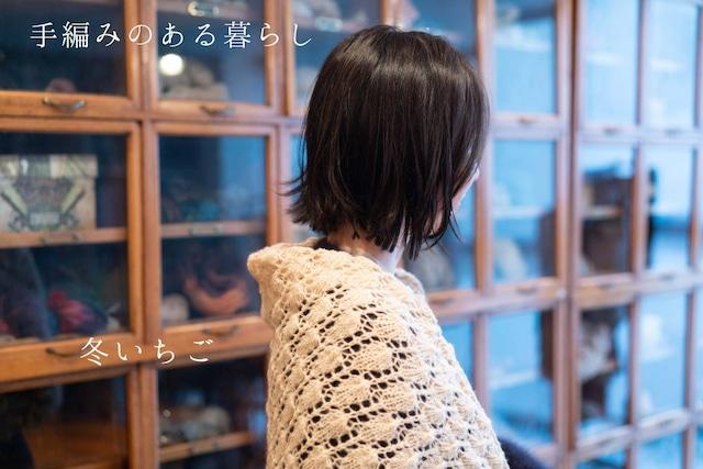 (糸のみ) 冬いちご(ショール) 編み物キット byコリドーニッティング