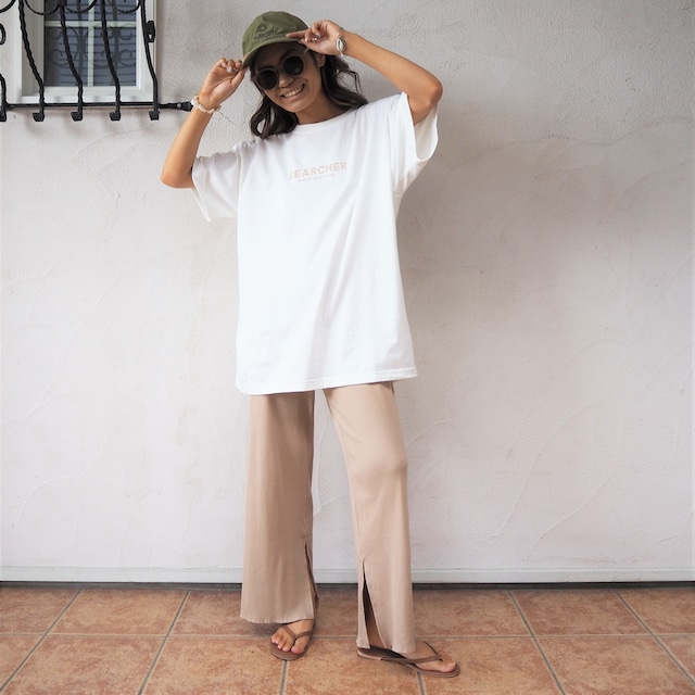 """SEARCHER Tee """"dream and wish in surfdays""""《WHT/BEG/PNK》20383117"""