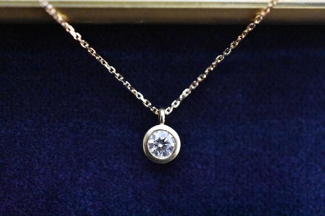 一粒 ダイヤモンドネックレス Ⅱ 0.2ct E VS2 EX / K18YG