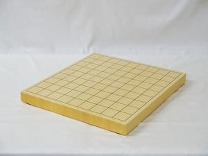 将棋盤 ヒバ 1寸 接合卓上盤