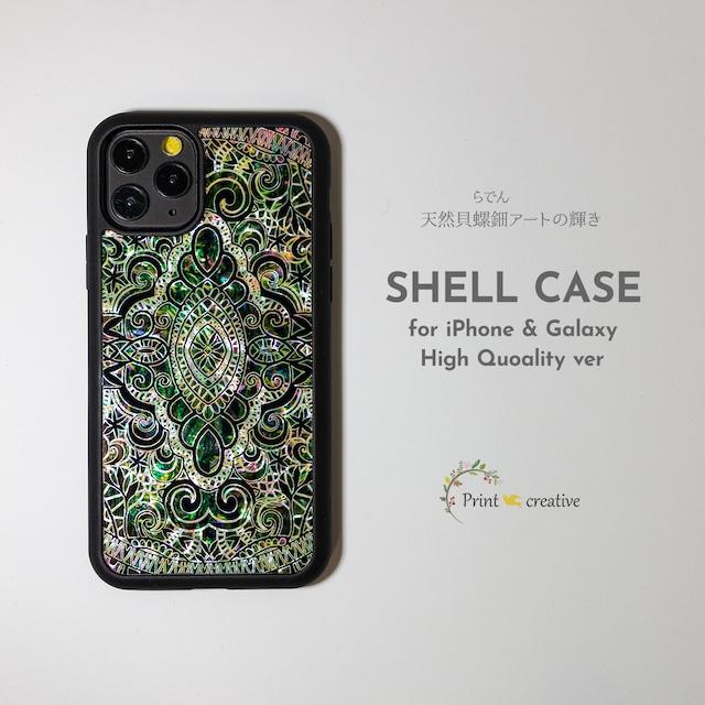 【iPhone13対応】天然貝シェル★エイシェントイスタンブール・アース(iPhone/Galaxyハイクオリティケース)|螺鈿アート