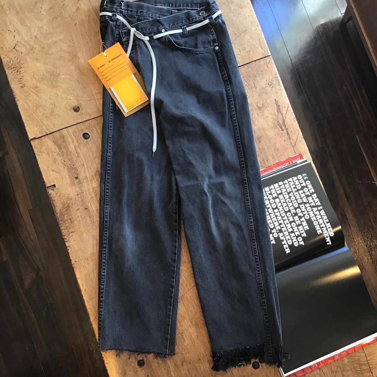 MAISON EUREKA VINTEGE REWORK BIGGY PANTS color black size S