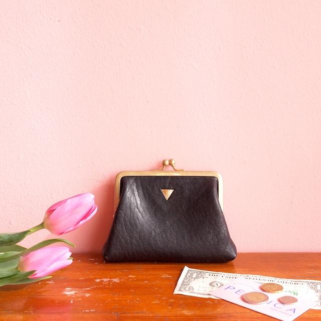 mini   ウォレット/がまぐち財布 ブラック×ピンク