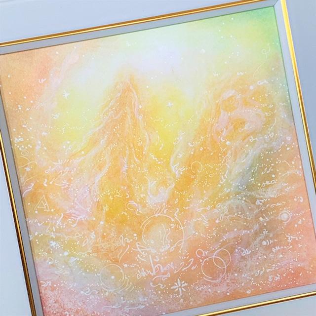 龍神 パステルアート 原画 『愛に目覚める』 龍神様が導くあなたのヒカリ